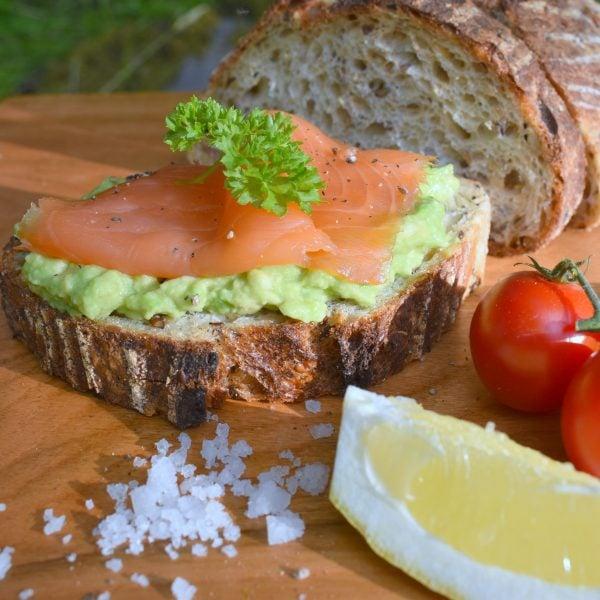 Ardshealach Smoked Salmon on bread with Avocado