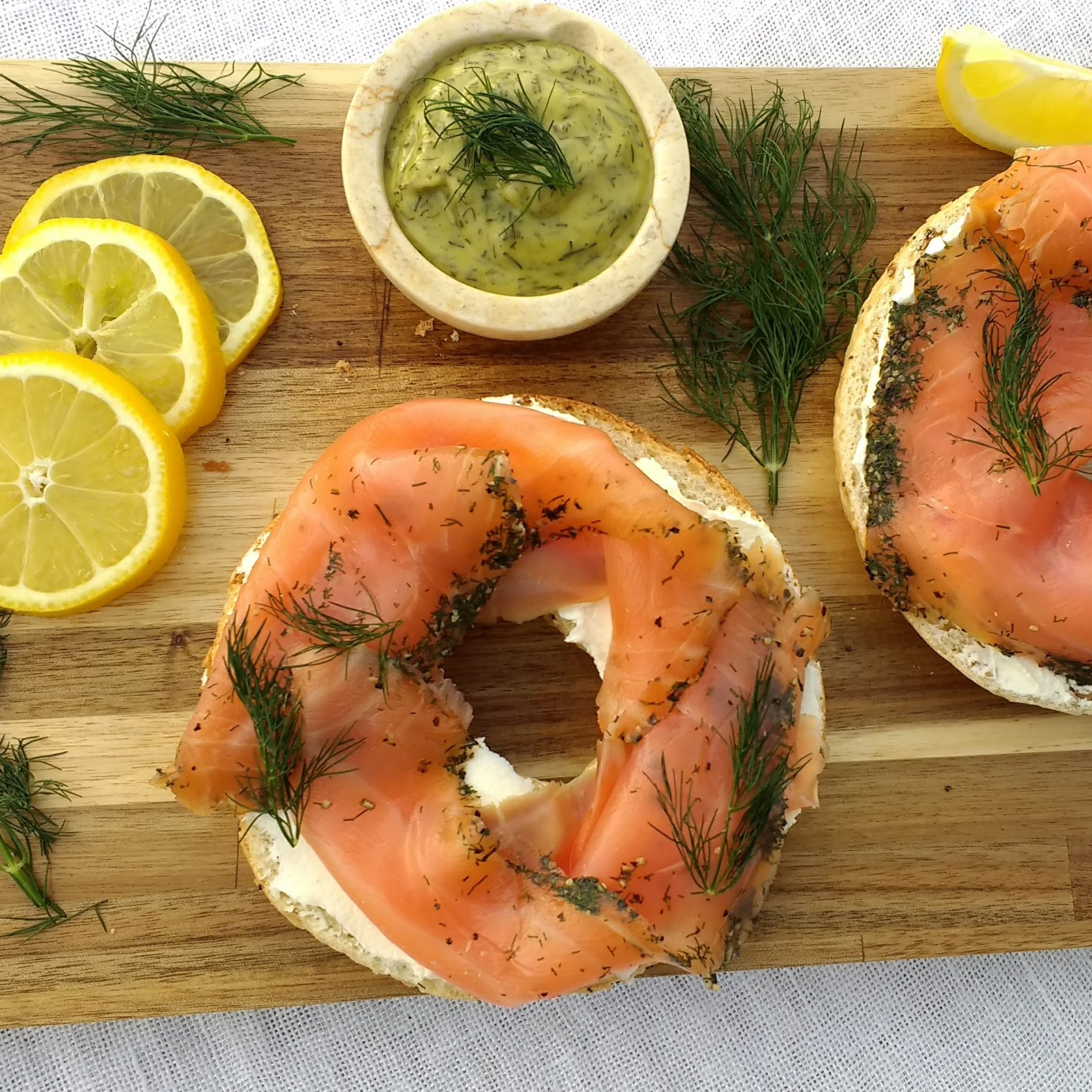 Bagel with Ardshealach Gravad Lax