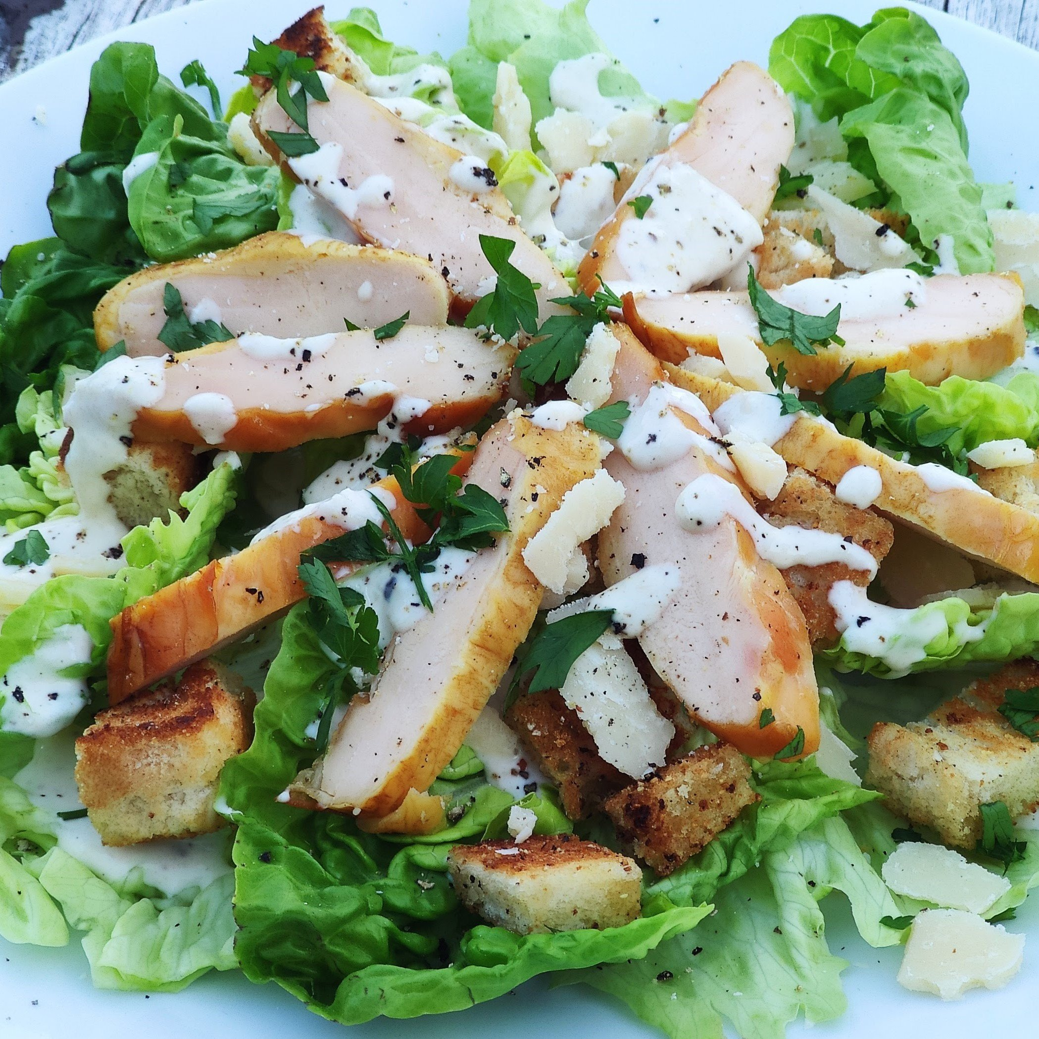 Cesar's salad with Smoked Chicken Breast